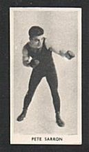 Rare cigarette card Boxing 1938  Pete Sarron